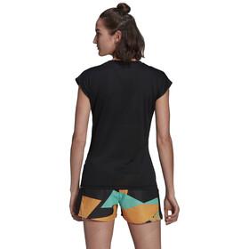 adidas TERREX Primeblue Trail Functional Logo Tee Women, black/acid yellow